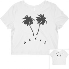 Palm & Compass Rose AS Croptop