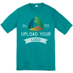 Upload Your Custom Logos Youth Performance Tee