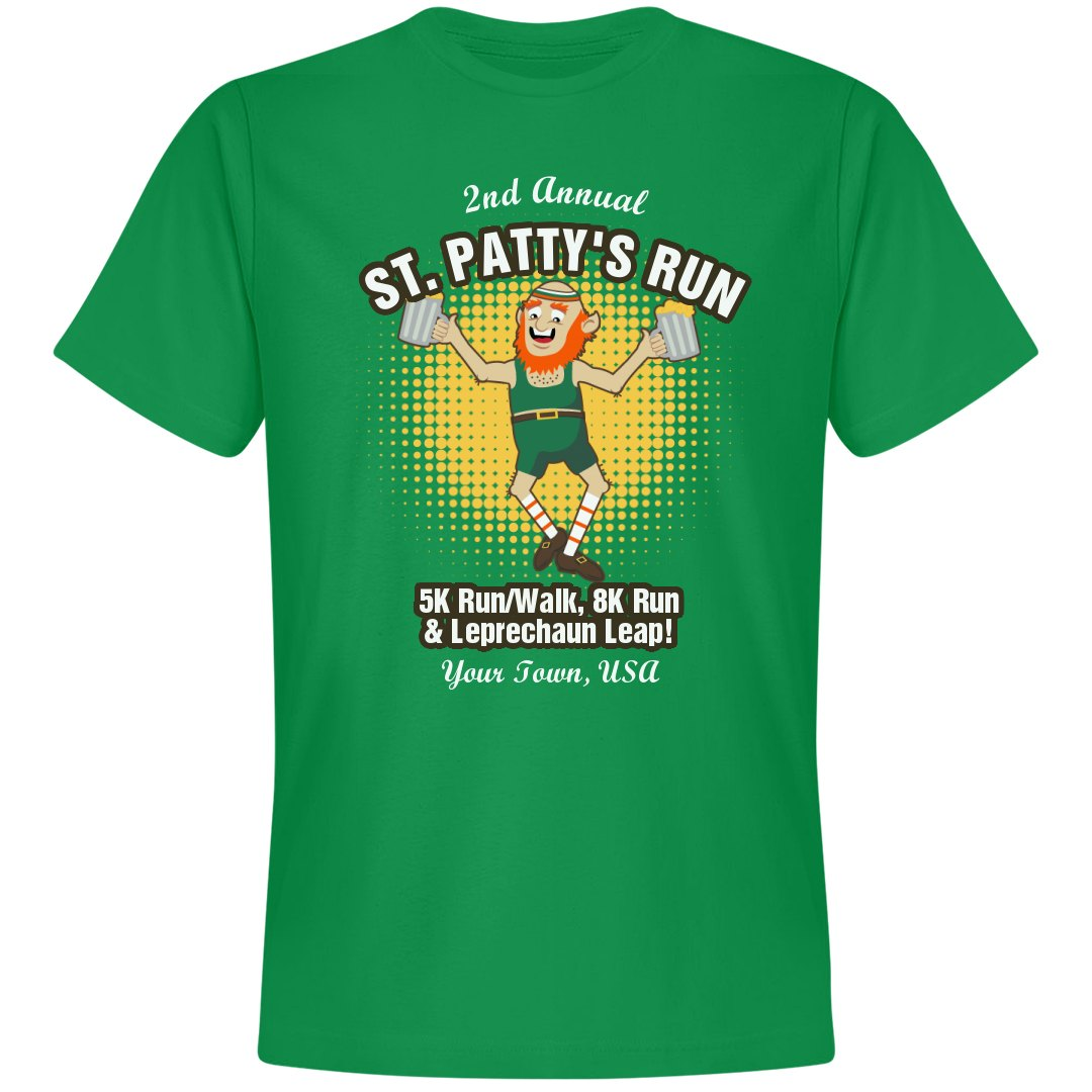 St Patricks Run Leap Unisex Premium T Shirt