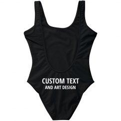 Add Custom Text To Swimsuit Butt