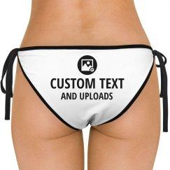 Bikini Butt Custom Text & Image Uploads
