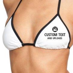 White Bikini Swimsuit Top