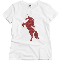 Red Fire Unicorn Shirt