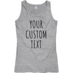 Personalized Tank Tops Custom Text