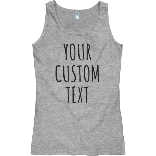 30d855c8f892c2 Personalized Tank Tops Custom Text Ladies Semi-Fitted Basic Promo Tank Top