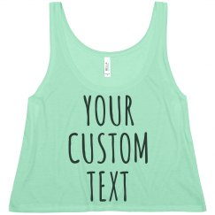 Custom Summer Relaxed Crop Top Tank