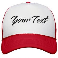 Custom Text Snapback Hats