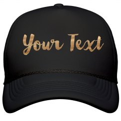 Custom Metallic Print Hat
