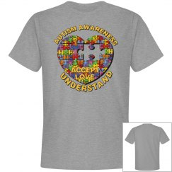 Autism Heart Puzzle Tee 3