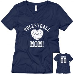 Proud Volleyball Mom Shirt With Custom Name Number