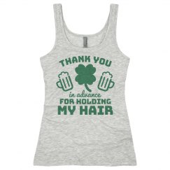 Holding My Hair On St Patrick's Day