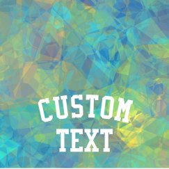 Custom Text Geometric Sports Wear