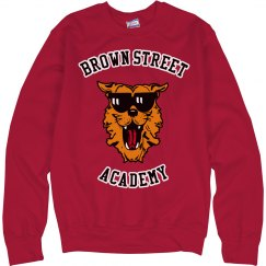 Sweatshirt - no hood Red