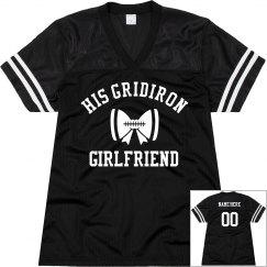 His Gridiron Football Girlfriend Custom Name Number