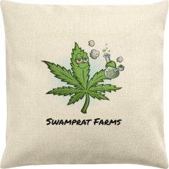 Swamprat Farms canvas pillow cover
