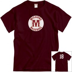 Men's midweight cotton tee number back