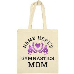 Custom Name Metallic Gymnastics Mom