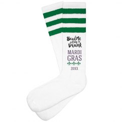 Bead Me I'm Drunk Mardi Gras Socks