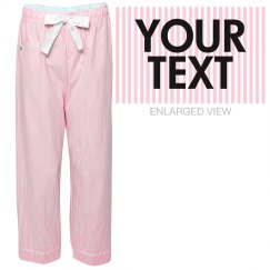 Personalized Stripe Pajama Pants