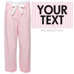 Personalized Stripe Pajama Pants