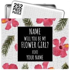 Flower Girl Custom Puzzle