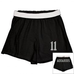 Aquarius Sporty Zodiac Shorts