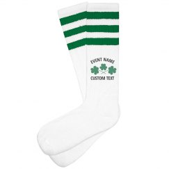 Custom St. Patrick's Day Run High Socks
