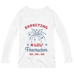 Expecting a Little Firecracker Maternity Long Sleeve