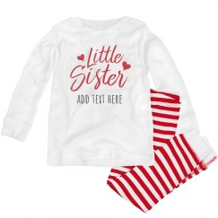 Personalized Little Sis Striped PJ's