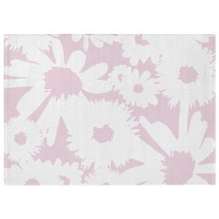 Graphic Floral Print Pastel Rug