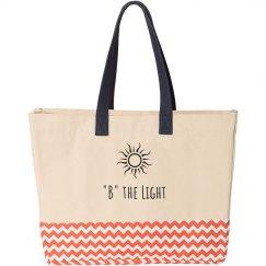 B the Light Beach Tote
