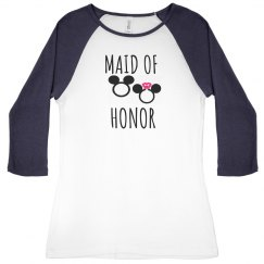 Maid of Honor Baseball tee
