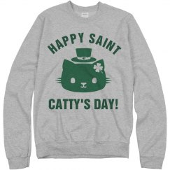St. Catty's Day Irish Green Cat
