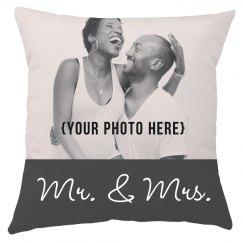 Custom Upload Mr & Mrs Wedding Gift