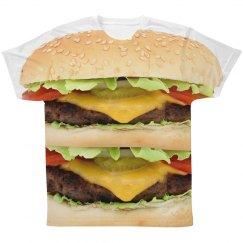 Double Cheeseburger Food Tee
