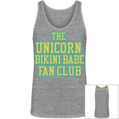 UNICORN FAN CLUB MEN'S TANK - GREY/YELLOW