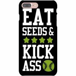Eat Seeds & Kick Ass Phone Case
