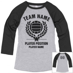 Custom Volleyball Raglan