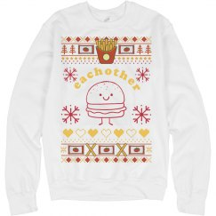 Burger And Fries Sweater Couple 2