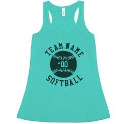 Softball Grandma Custom Player No.