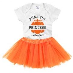 Pumpkin Princess Adorable Baby Onesie & Tutu