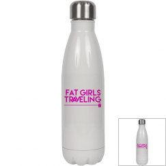 FGT 17oz White Stainless Steel Insulated Water Bottle