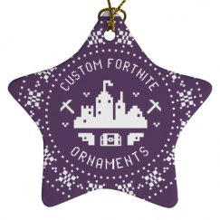 Porcelain Star Ornament