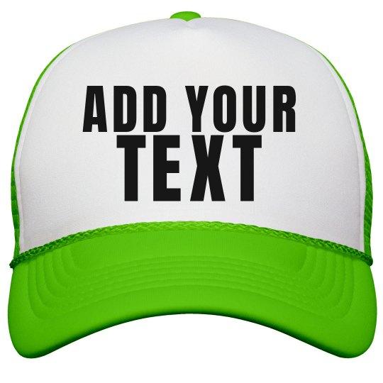 Custom Neon Hat Neon Snapback Trucker Hat a666c83db76