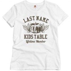 Custom Kids Table Lifetime Member