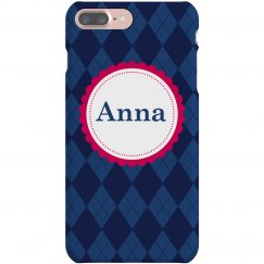 Diamond Pattern Argyle Case