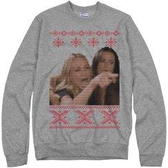 Christmas Woman Yelling Ugly Sweater