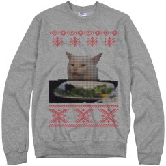 Christmas Confused Cat Ugly Sweater
