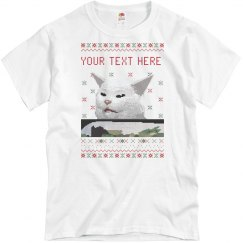 Custom Text Confused Cat Tee