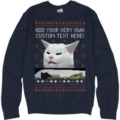 Confused Pixel Cat Custom Sweater